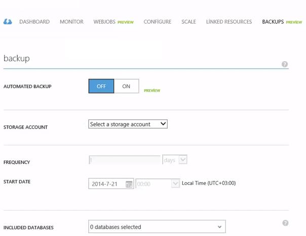 Backup Azure Web Site