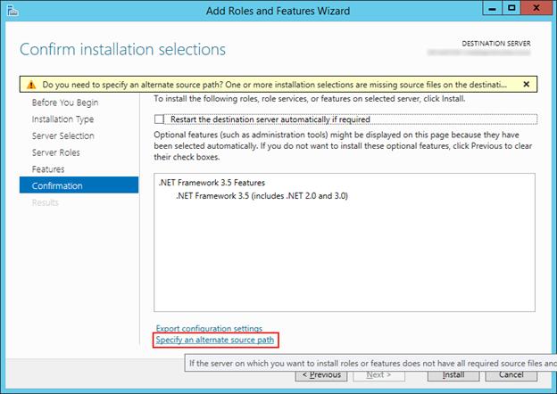 Windows Server 2012 Üzerinde .Net Framework 3.5 Hatası ve Çözümü
